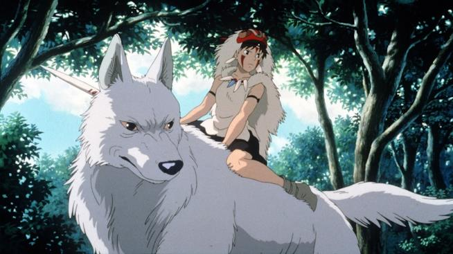 La ragazza lupo del lungometraggio di Miyazaki