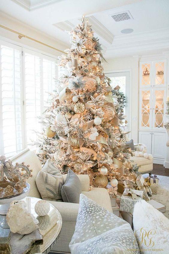 Alberi Di Natale Addobbati Eleganti.100 Idee E Immagini Per Realizzare L Albero Di Natale