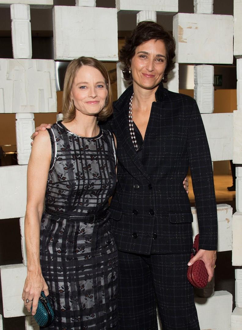 Jodie Foster con la moglie Alexandra Hedison