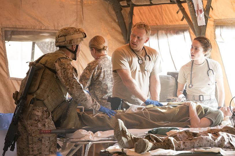 Owen e Megan Hunt in una base militare in Grey's Anatomy