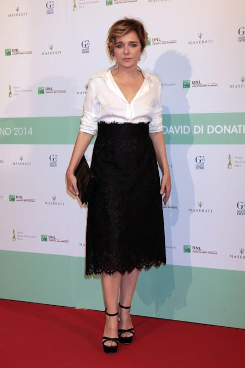 Valeria Golino, alla cerimonia dei David di Donatello 2014