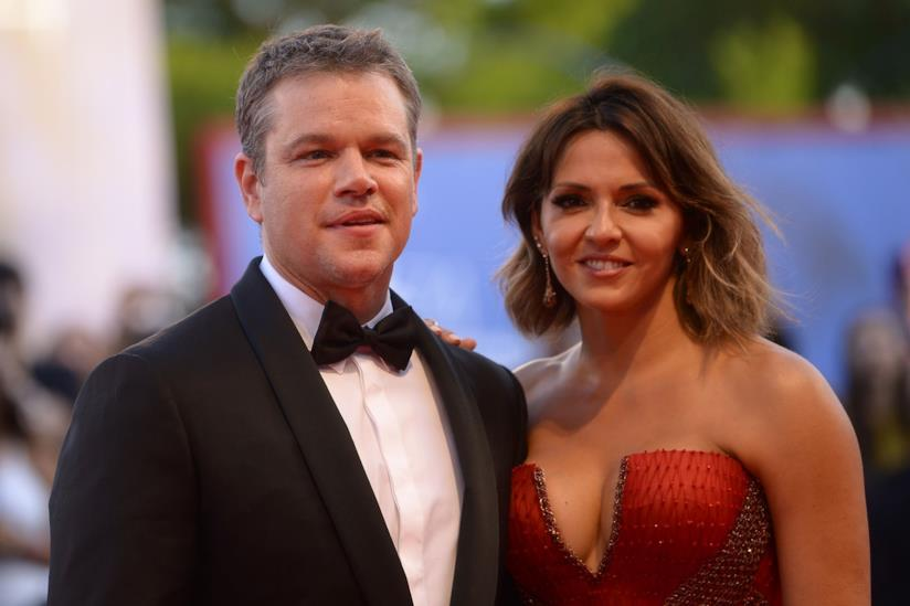 Matt Damon e la moglie a Venezia 74
