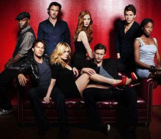 Anna Paquin, Stephen Moyer e il resto del cast di True Blood