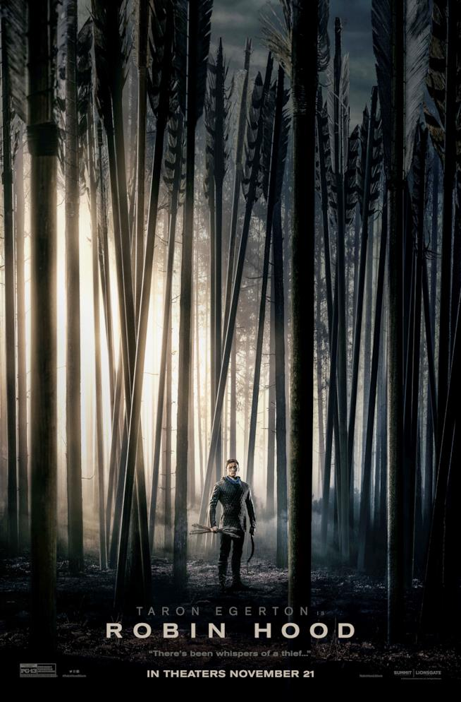 La locandina di Robin Hood 2018
