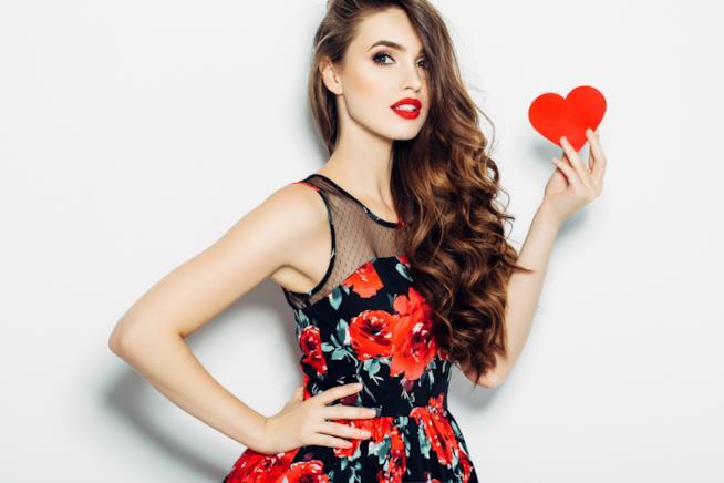 Vestito rosso per san valentino