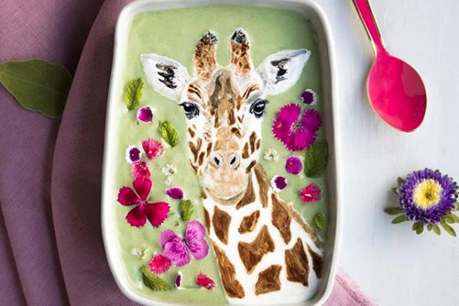 Smoothie con giraffa