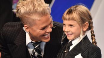 Pink con la figlia Willow agli MTV VMA 2017