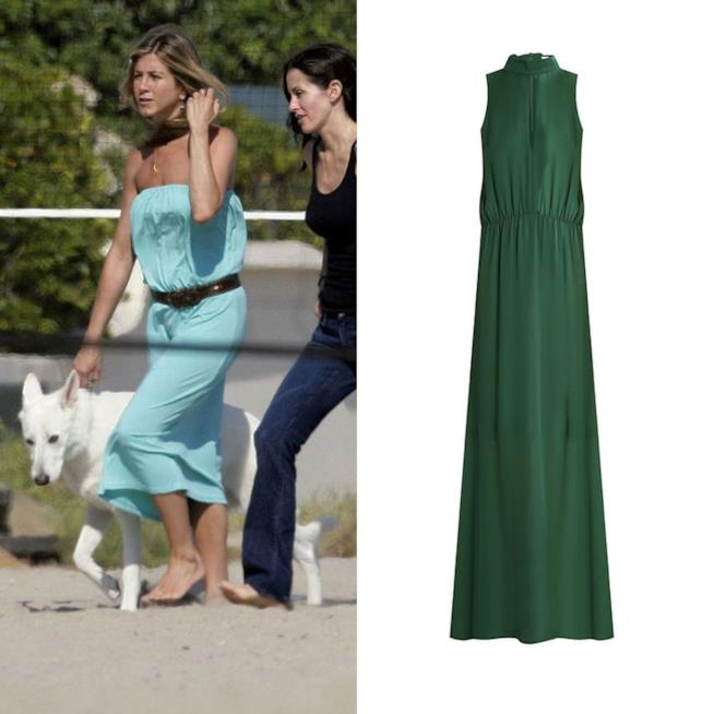 Look di Jennifer Aniston che porta a spasso il cane