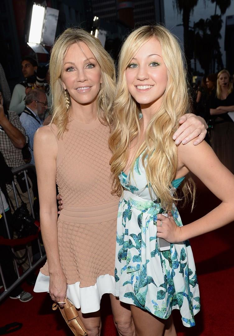 L'attrice Heather Locklear con la figlia