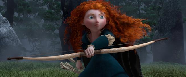 La protagonista del film d'animazione Pixar Brave