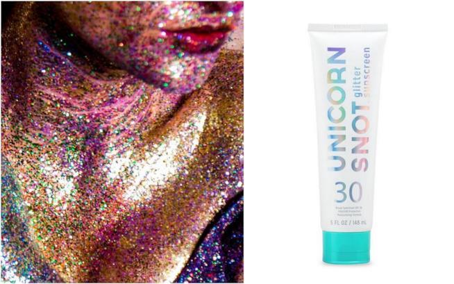 La crema solare glitter di Unicorn Snot
