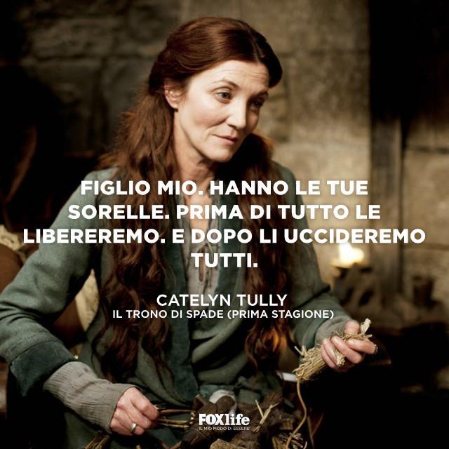 Catelyn durante una scena