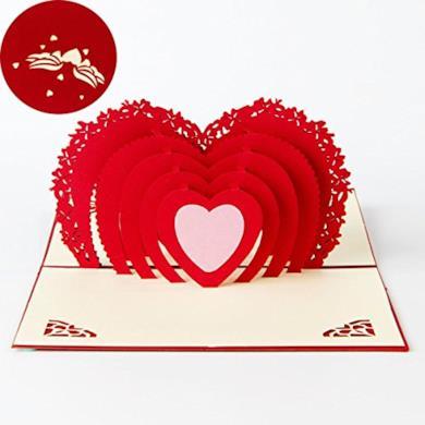 Biglietto 3D per San Valentino