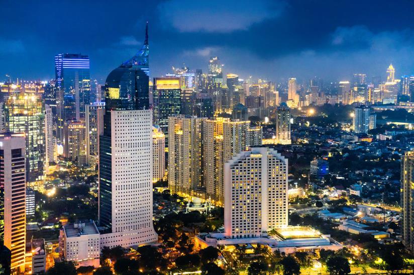Skyline di Giacarta in Indonesia