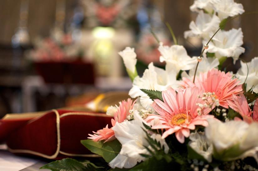 Fiori in chiesa per matrimonio