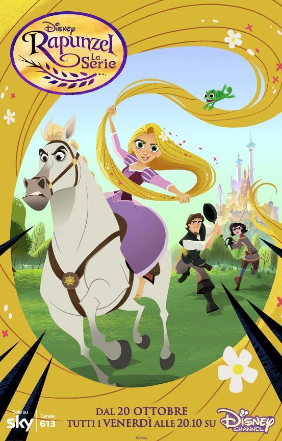 La locandina della serie TV di Rapunzel
