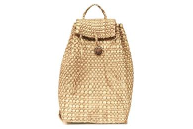 Backpack Straw Bag