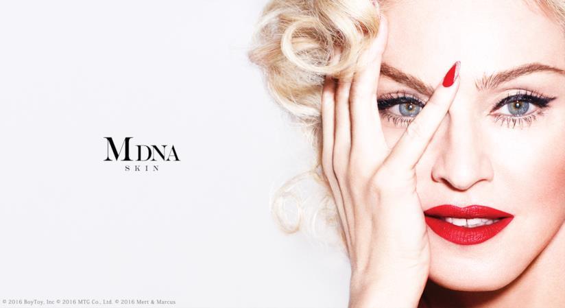 La cantante Madonna testimonial del suo brand