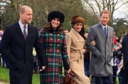 I duchi di Cambridge William e Kate ed il Principe Harry con Meghan Markle