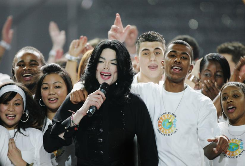 Michael Jackson tra il pubblico
