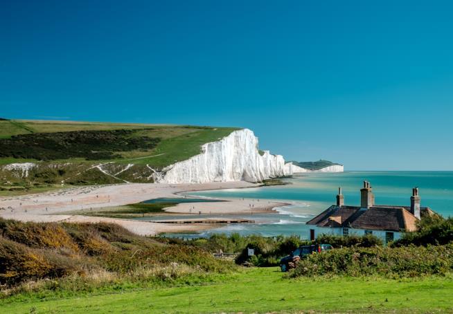 Il gruppo di scogliere noto come Seven Sisters, nel Sussex