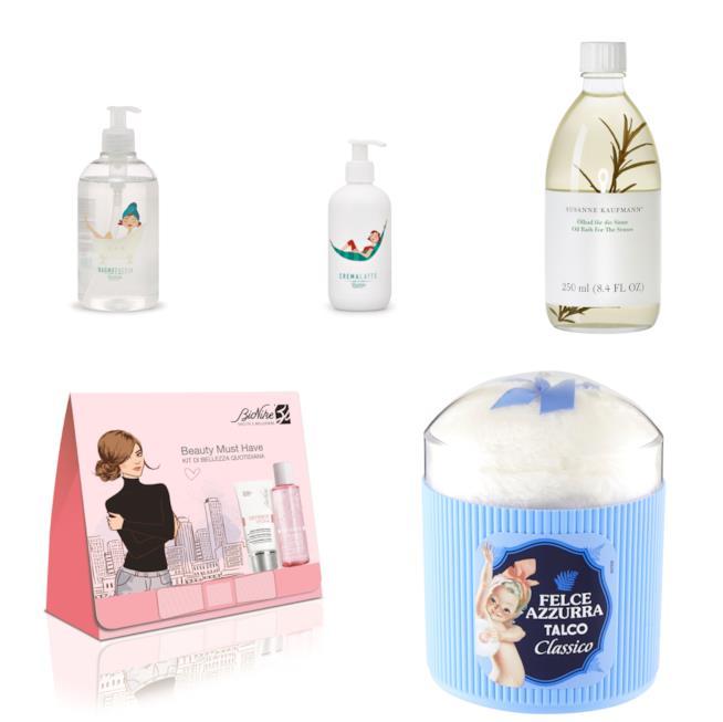 Prodotti di cosmesi per la cura del corpo e del viso