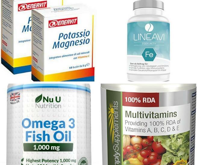 Integratori di vitamine e sali minerali per lo sportivo