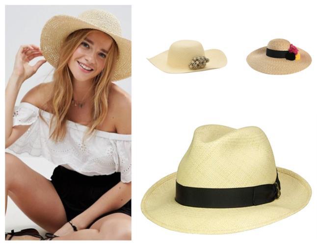 I cappelli per l'estate 2018 sono in rafia, a tesa larga e borsalino