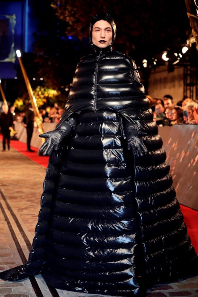 Ezra Miller in outfit Moncler