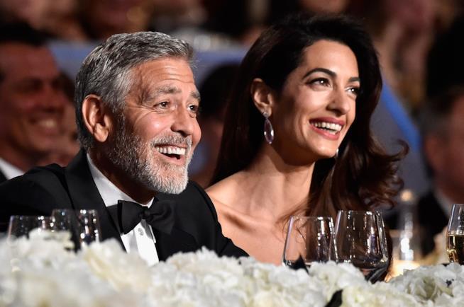George Clooney e Amal a tavola