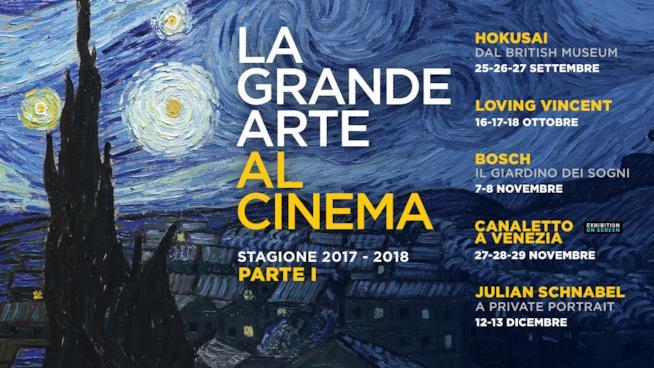 Locandina della grande arte al cinema con Nexo