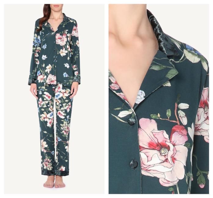 A fiori il pigiama a maniche lunghe