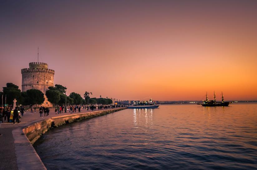 La Torre Bianca al tramonto