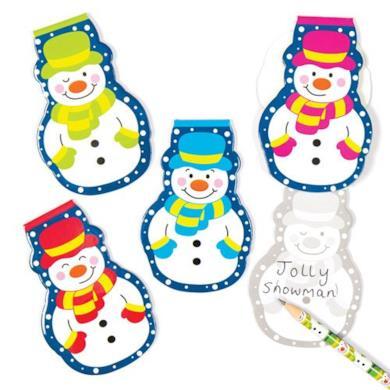 Blocchetti natalizi con allegri pupazzi di neve