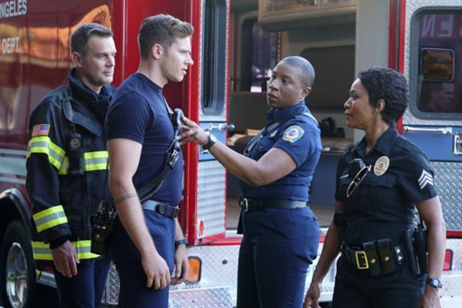 9-1-1: un'immagine dal primo episodio della serie