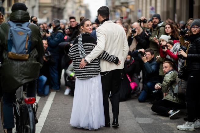 Beatrice Valli e Marco Fantini alla settimana della moda
