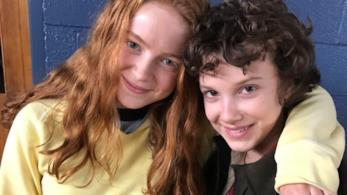 Le attrici di Stranger Things Millie Bobby Brown e Sadie Sink