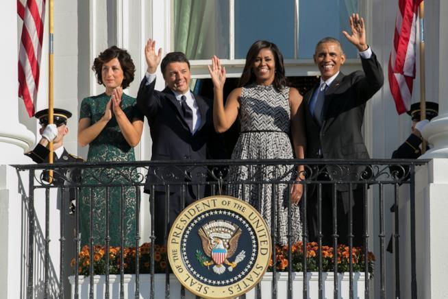 Matteo Rendi e Agnese insieme a Barack Obama e Michelle