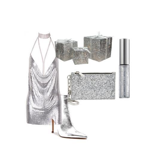 Outfit per Capodanno a tema scintillante
