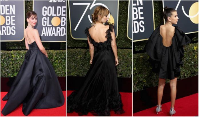 Un collage di scollature sulla schiena ai Golden Globes 2018