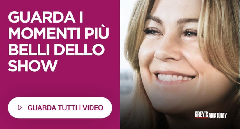 I video in italiano di Grey's Anatomy