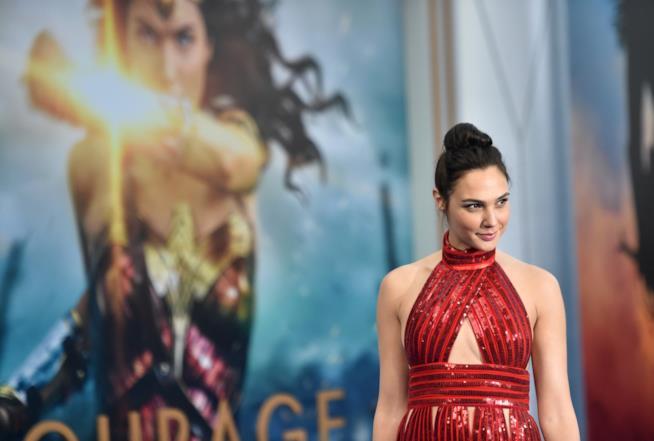 Gal Gadot alla premiere di Wonder Woman