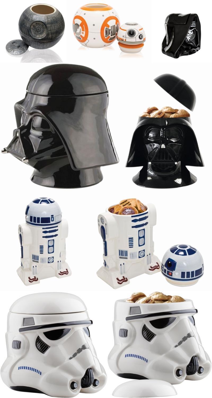 Barattoli per biscotti a forma di personaggi di STar Wars