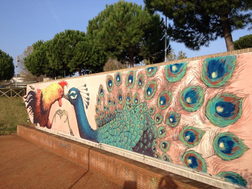 Un'opera di Erailcane a Rimini