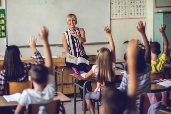 Una classe di bambini