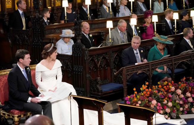 Sarah Ferguson al matrimonio di Eugenie