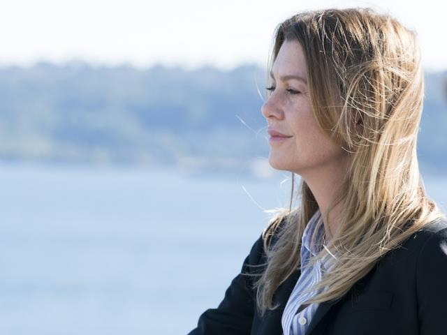 Meredith in una scena di Grey's Anatomy 14