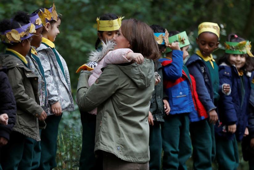 Kate Middleton con i bambini presenti all'evento