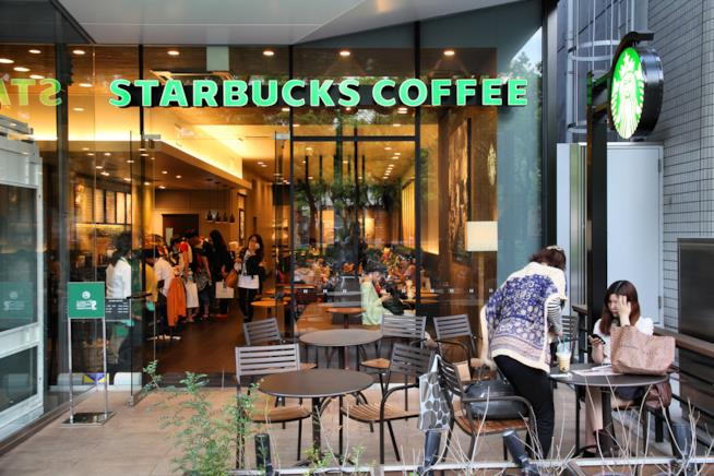 Uno dei punti vendita Starbucks nel mondo