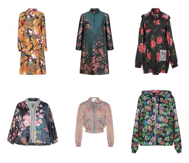 A fiori, le giacche e i cappotti di moda per l'A/I 2018-19